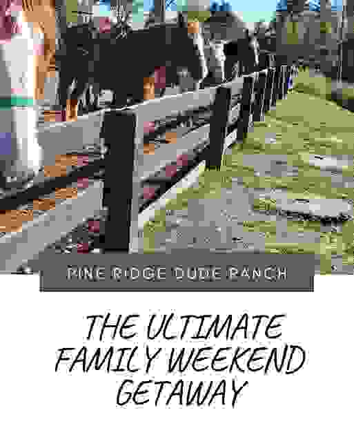 family weekend getaways from NYC, fun family getaways near me, Pine Ridge Dude Ranch menu,