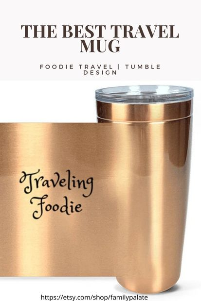 foodie travel, traveling foodie tumbler, foodies, foodie gift, foodie accessories,