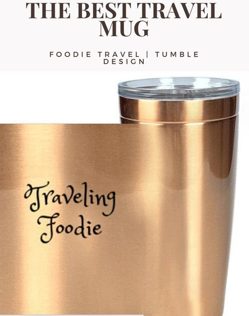 foodie travel, traveling foodie tumbler, foodies, foodie gifts, foodie accessories