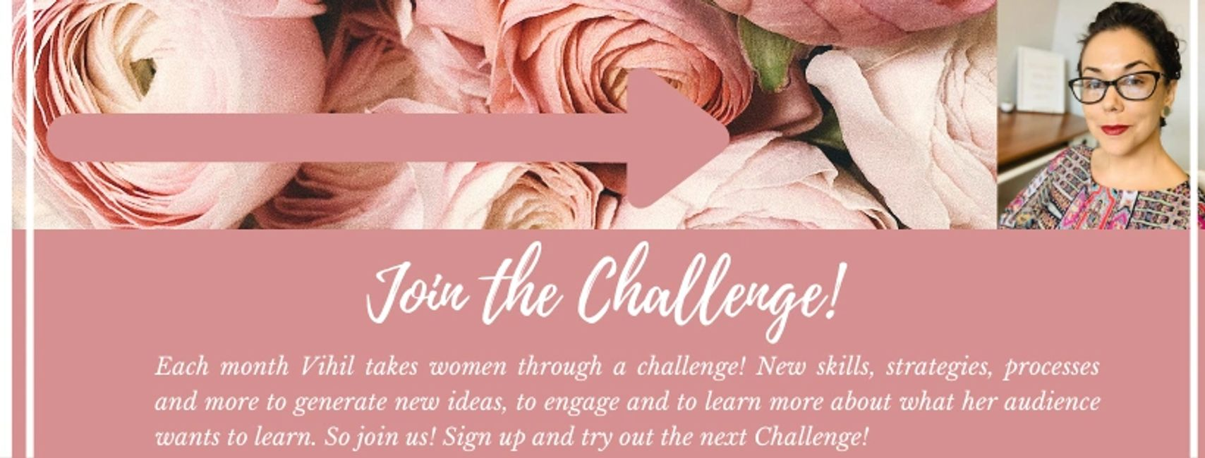 join the challenge with Ms. Vihil every month to learn something new!