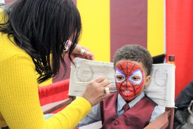 Face painting provided by Oneal Family Painting