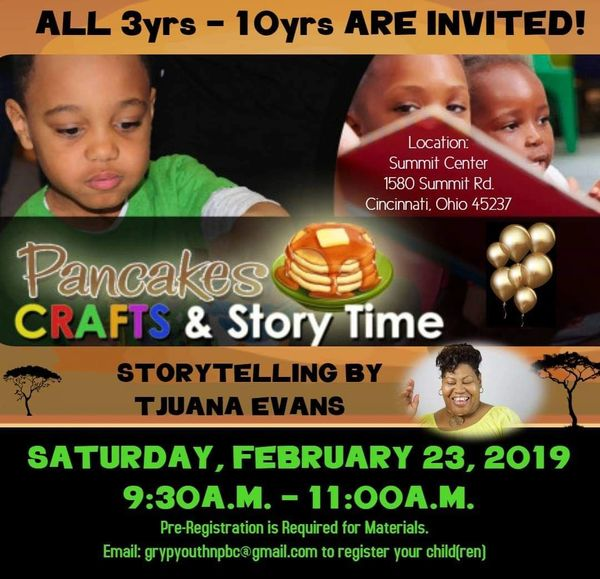 Cincinnati OURSTORY Book Fair & Expo Black History Month Celebration 2019 Children Pancake Breakfast