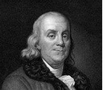 Benjamin Franklin is usually associated with the early  application of electric current.