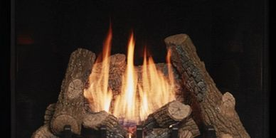 Select a fireplace or stove that is fueled by gas