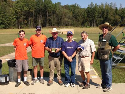 Group photo of some of the range volunteers and shooters.