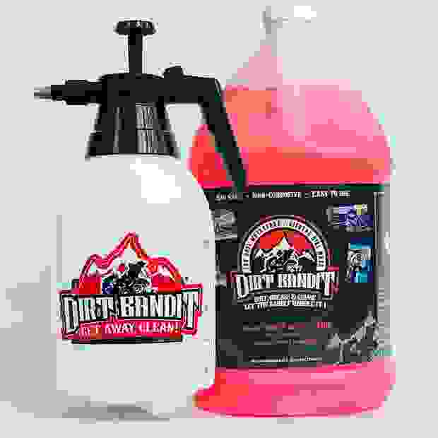 Dirt Bandit pump spray and 1 gallon of concentrated Dirt Bandit wash.