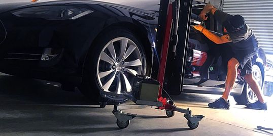 Paintless Dent Repair Savannah Bluffton Tesla dent