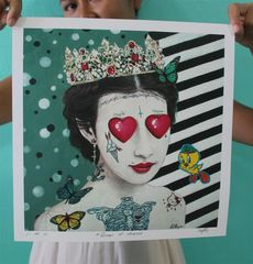 queen of hearts limited edition print