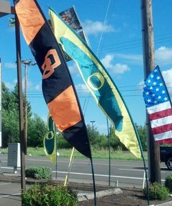 Extra Heavy Duty Windsock Poles-Green-Banner Poles-Feather Flag Poles-Feather Banner Poles-Tall