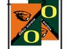 Oregon State Beavers House Divided Garden Flags