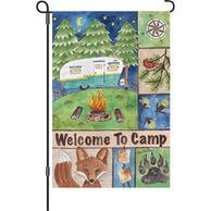RV & Camping Garden Flags-Camp Garden Flags-Welcome to Camp Flags-Happy Camper Flags and Banners