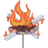 Campfire Wind Spinner with Spinning Marshmallows | Wind Spinners for RVs and Camping
