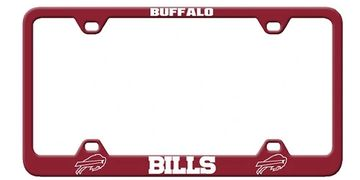 NFL Laser Engraved License Plate Frames | NFL Auto Accessories | NFL License Tag Frames