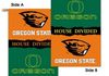 Oregon State Beavers House Divided House Banner 28 X 40