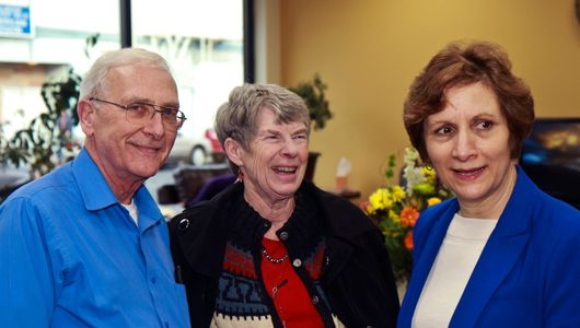Executive Director Larry Miller, Arlene LaMear, Suzanne Bonamici