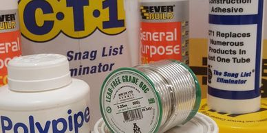 Jet Lube V-2 PLUS, FRY Powerflow Flux, Lead Free Solder Wire,Polypipe SC250 Solvent Cement,Pipe Lube