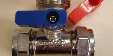 Water Valve Chrome T Shaped Water Valve Chrome Isolating valve Plumbing in Belford BSB Supplies near