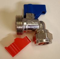 Bent Water  Valve 3/4 Washing Machine Tap Cold Water Washing Machine Tap 392415 Hot & Cold Inlet Tap