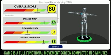 Functional movement, sports medicine, posture, 3D screening, sports performance