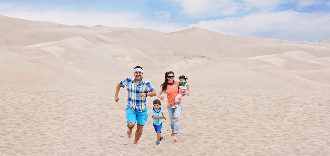 Great Sand Dunes, Colorado, The Jetsetting Family, The Travelers Blueprint, Travel, Budget, Podcast