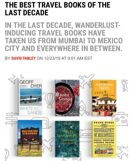 Best Travel Books of the 2010s The Travelers Blueprint Podcast News World Globe Amazing Read