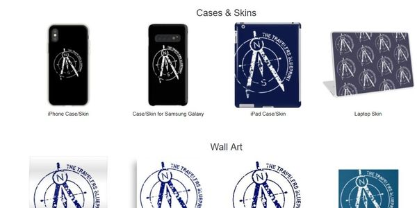 The Travelers Blueprint Merchandise, Store, RedBubble