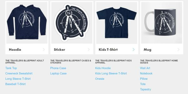 The Travelers Blueprint Merchandise