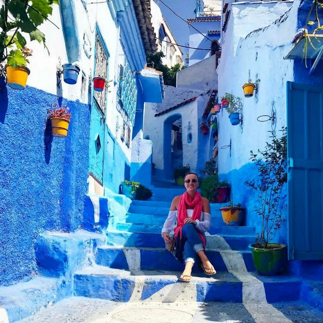 Chefchaouen Morocco, Leah Habib, The Travelers Blueprint, Contiki, Group Travel, Study Abroad