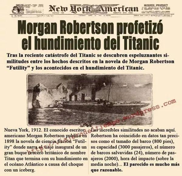 La publicación que hizo el New York American sobre la novela de Robertson