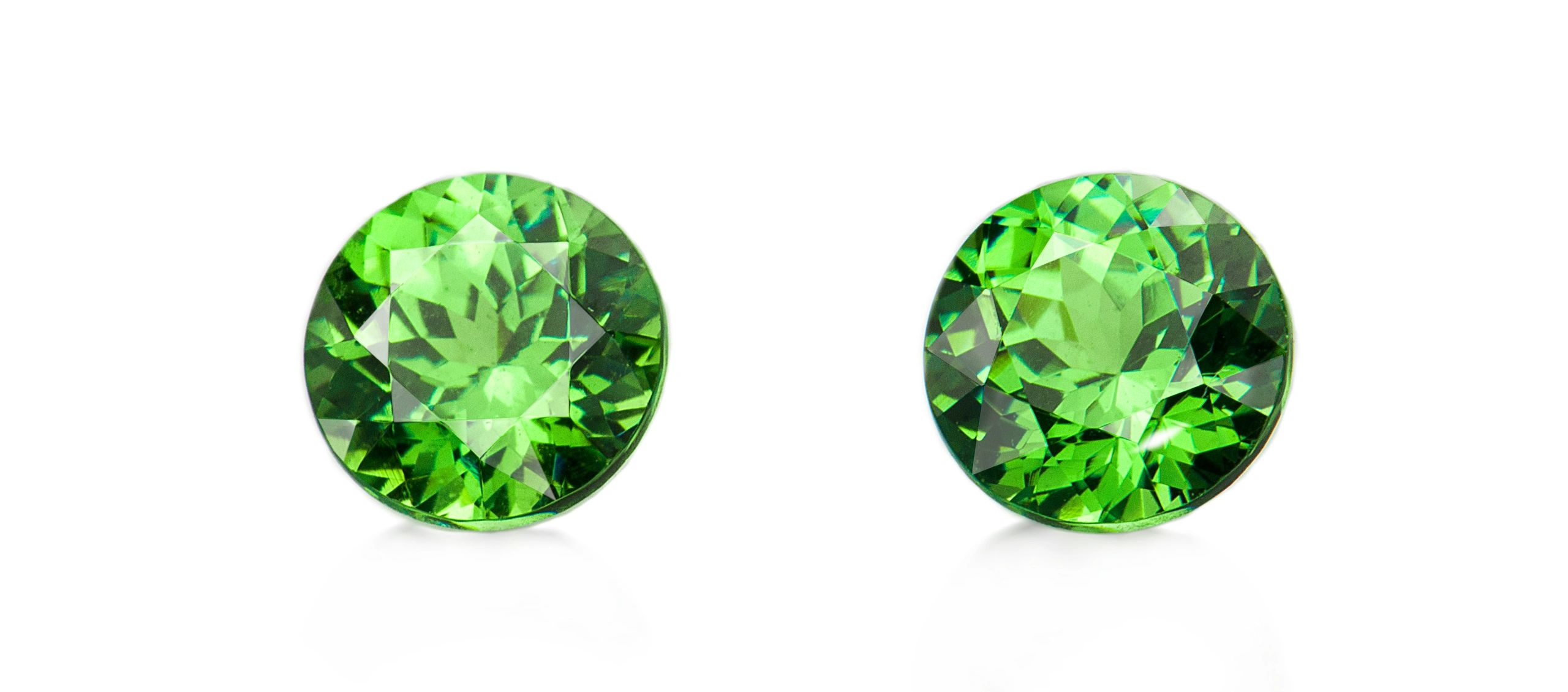 Demantoid garnet gemstones matched pair calibrated by Prosperity Earth from Madagascar