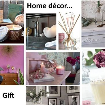 Accessories, candles and home decor for your home. Available at www.giftonaline.com