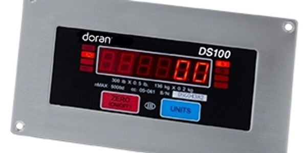 Baggage weight is easily read from up to 20 feet on the large, bright red LED display.
