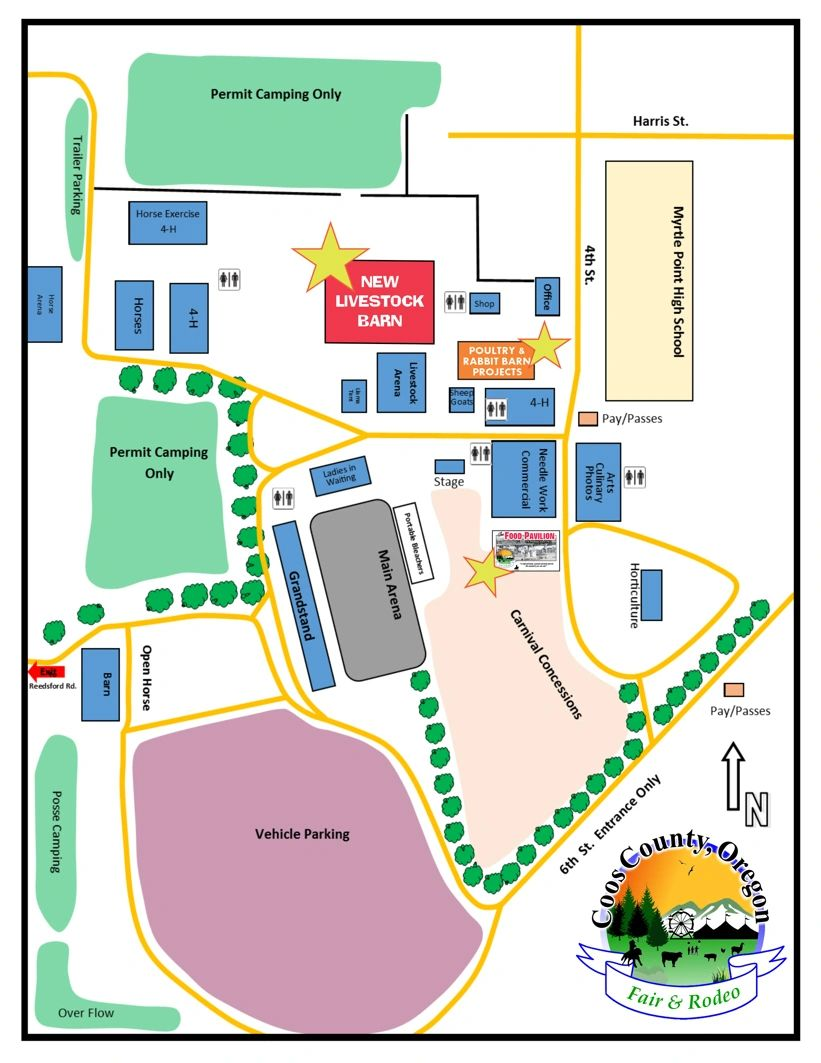Coos County Fair & Rodeo Site Map