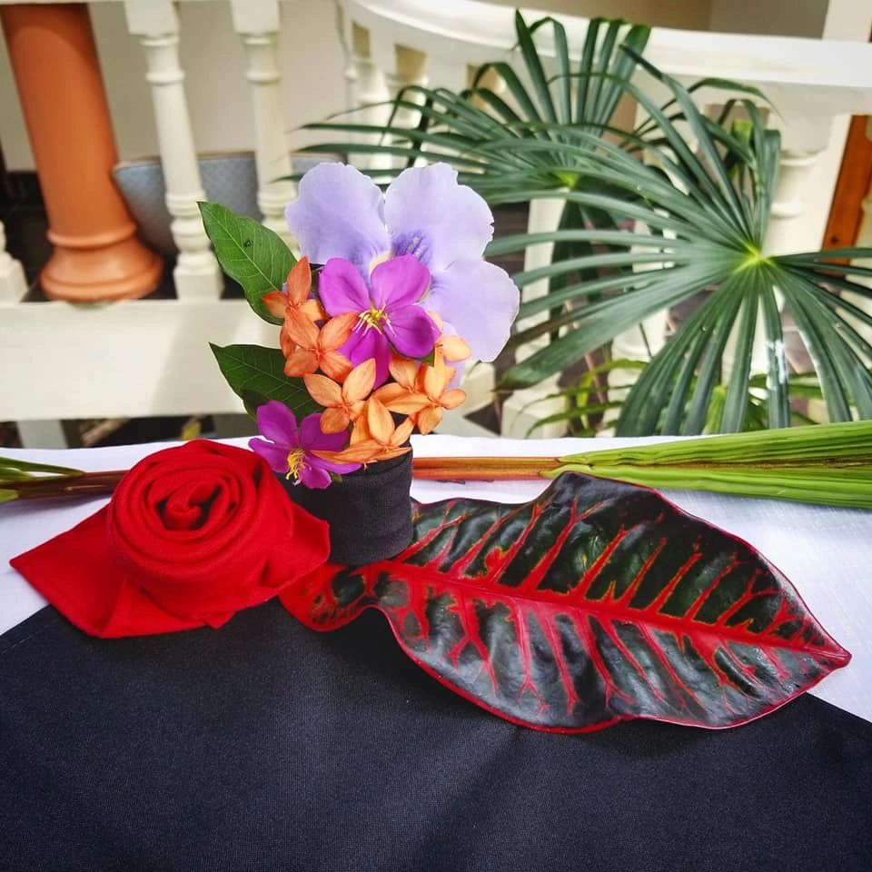 Luxury resort flowers costa rica