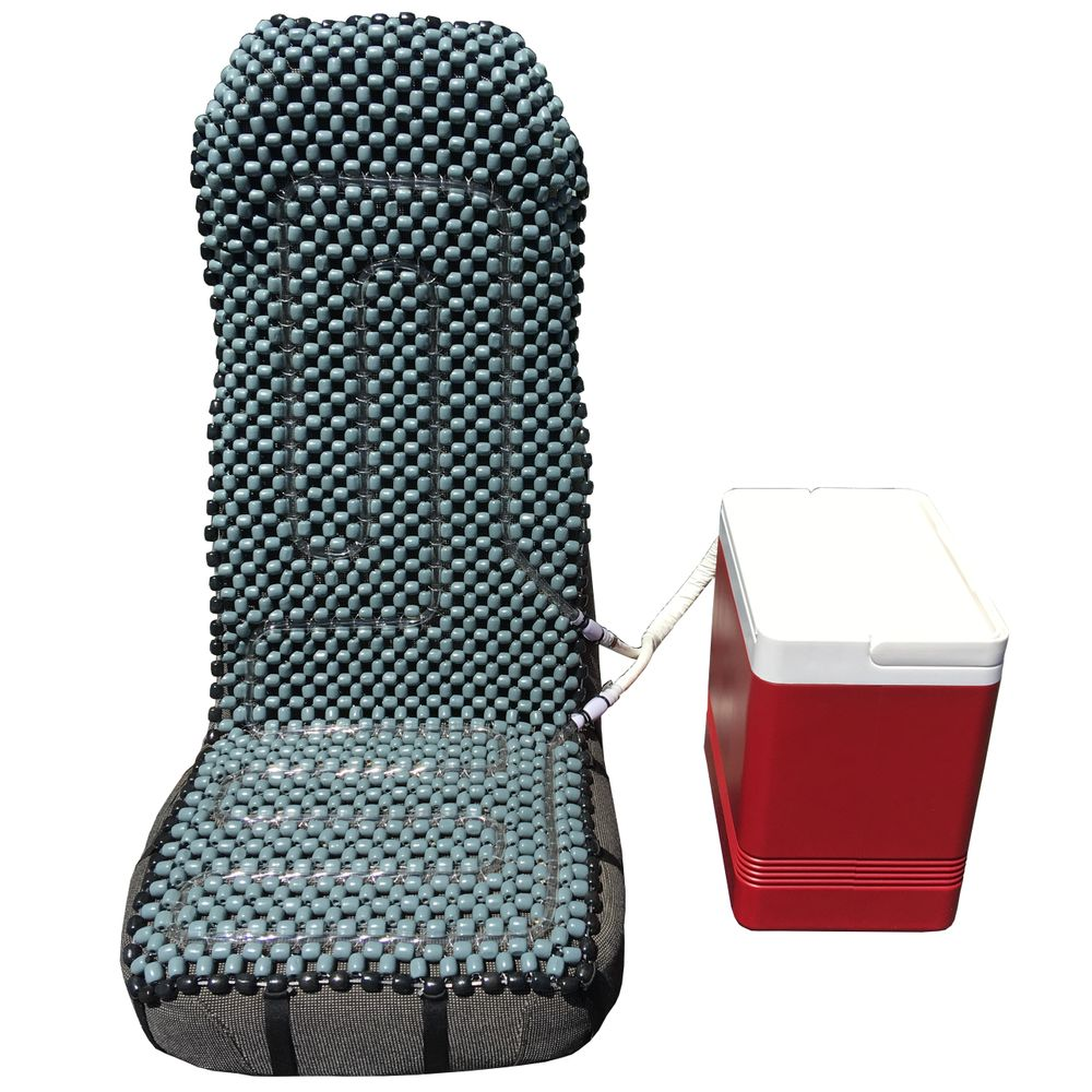 Cold Azz Ice Seat Cover Cooling System Gray Black border.