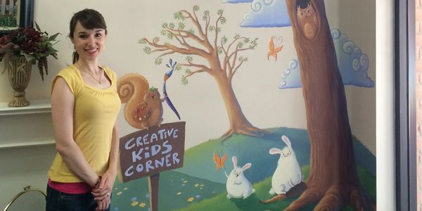 Do you have a space for kids to play, but it doesn't look very kid-friendly? A mural is the answer!