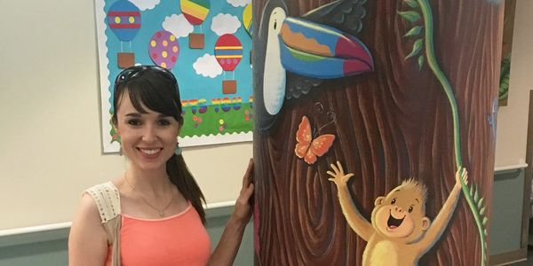 These cute critters are found in the  jungle tree hospital mural, which brought joy to many kids!