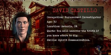 David Castillo from The Haunting of Flavel House paranormal mobile game