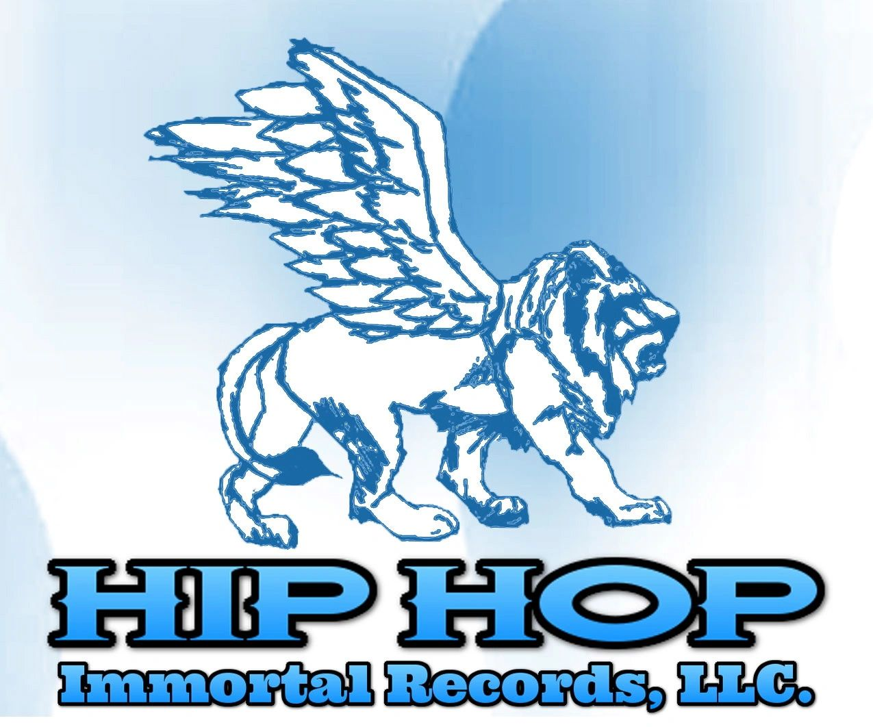 Hip Hop Immortal Records, LLC Logo image of lion in profile with wings.