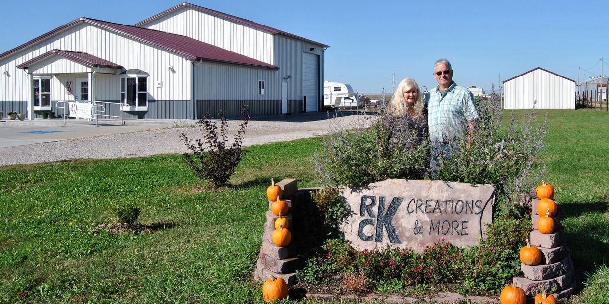 RCK Creations and More's building with owner operators Roger and Connie Kirkpatrick