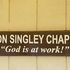 Chapel Dedication to Ron Singley. God is at work!