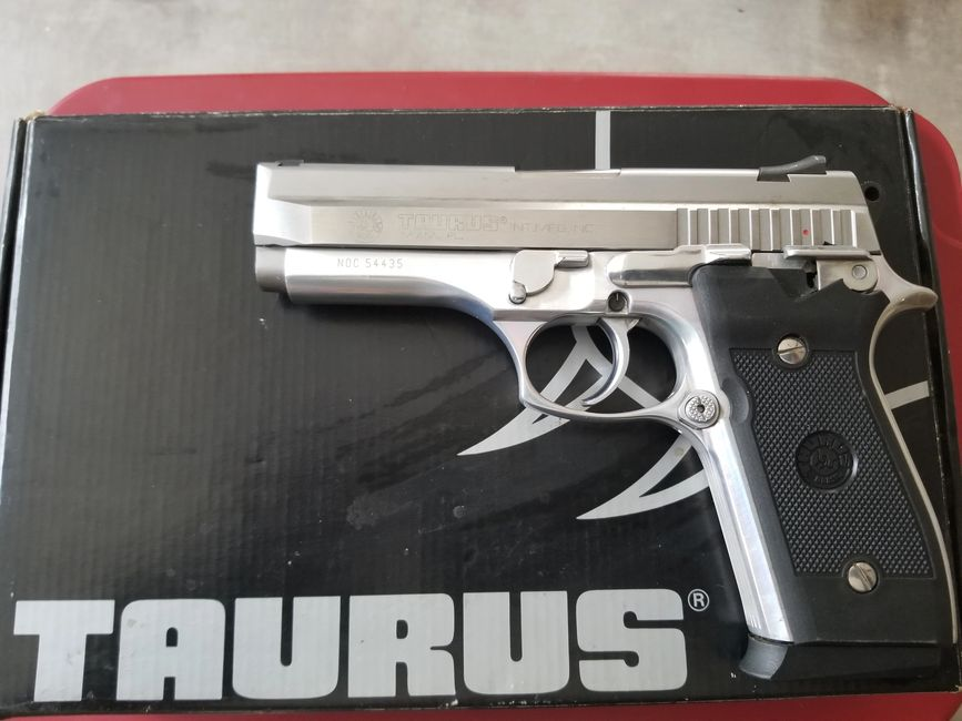 Taurus PT945 Stainless Nickel 45acp pistol for sale, Used.