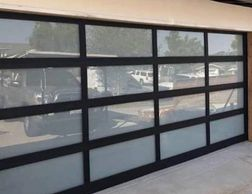 Anodized & powder coated Aluminum glass garage doors by garage doors 4 Less. 818-314-5545.