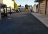 Fanucci Auto Body's Parking Lot in Santa Cruz After Repairing Potholes, Sealcoating and Striping