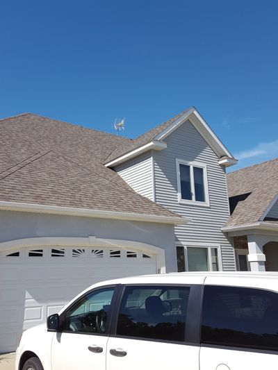 Antenna Mounted on House