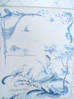 "Detail of hand painted design- ""Chinoiserie"""