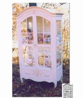 Venetian Doll House Armoire with glass doors an glass shelves and interior light. I have one left in
