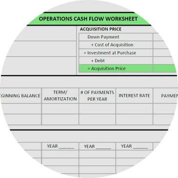 Operations Cash Flow Worksheet