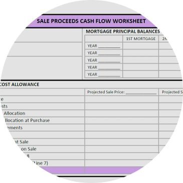 Sales Proceeds Cash Flow Worksheet