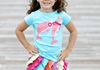 Dolphin BFF Tee with Bright Multi Skort